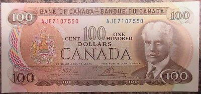 Bank Of Canada 1975 $100 Banknote Signed Crow/bouey