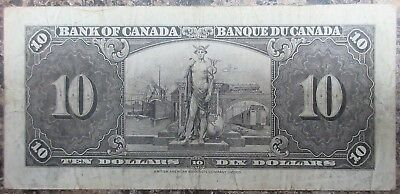 Bank Of Canada 1937 $10 Banknote Signed Gordon/towers