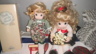 2- Collectible Precious Moments Dolls With Accessories