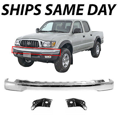 NEW Steel Chrome Front Bumper /& Brackets Combo Kit for 2001-2004 Toyota Tacoma