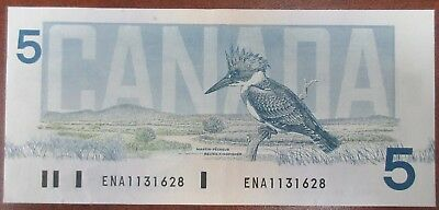 Bank Of Canada 1986 $5 Banknote Signed Crow/bouey