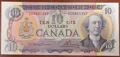 Bank Of Canada 1971 $10 Banknote Signed Lawson/bouey
