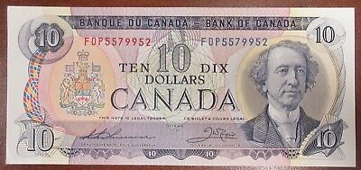 Bank Of Canada 1971 $10 Banknote Signed Thiessen/crow