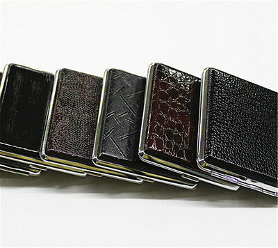 Pocket Leather Tobacco Cigarette Card Holder Storage Case Box Container Best TO