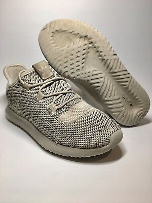Adidas Originals Tubular Shadow Knit Men's Brown/Beige Shoes Sz 1 1/2 US
