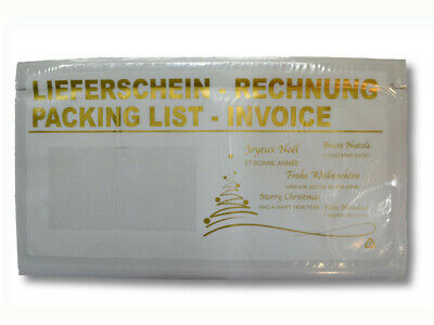 """Lieferscheintasche Printed Delivery Note/Invoice """" Xmas Din Long"""
