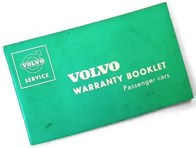 1963 VOLVO 544 Warranty and Service Booklet—Passenger Cars