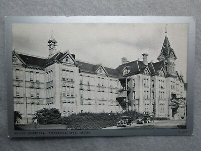 Antique State Hospital, Traverse City, Michigan Postcard