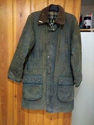 Men's Wax Barbour Mark Phillips Jacket size small ( 38 chest fit). Green