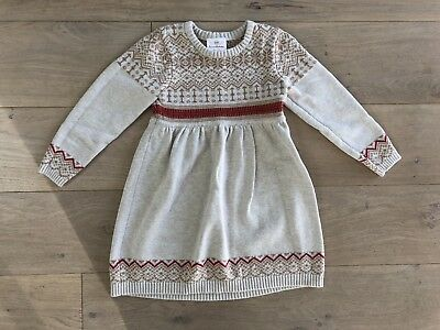 436c7df296f Hanna Andersson Girls Size 110 5 Years Fair Isle Sweater Knit Dress CUTE