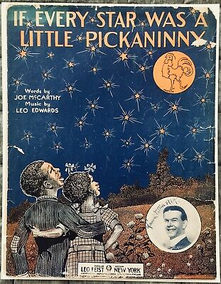 """Vtg Sheet Music """"If Every Star Was a Little Pickaninny"""" 1912 Black Americana"""