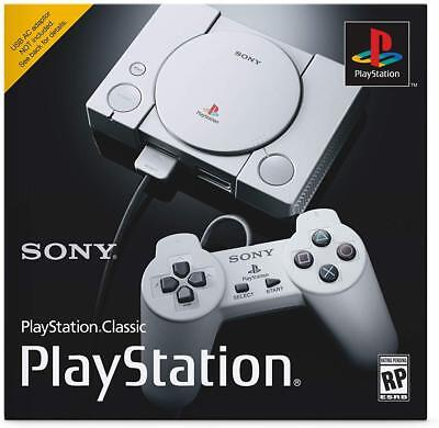 Sony PlayStation Classic Mini Retro Console with 2 Dualschock Controllers