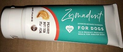 Zymadent Advance Dental Care Enzymatic Toothpaste Dogs Peanut Flavor 3oz.