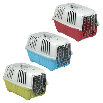 Pet Carriers Cage Dog Cat Kitten Puppy Travel Vet Transport Box Kiwi Red Blue