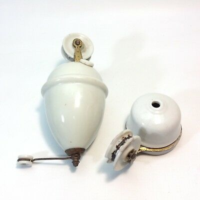 Vintage Ceramic Counterweight Light Fitting