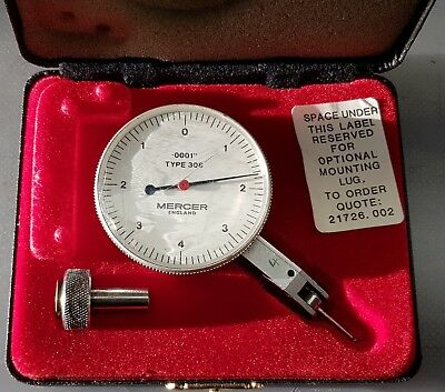 MERCER DIAL TEST INDICATOR IMPERIAL 0.0001 inch