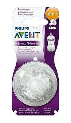 Philips AVENT BPA Free Natural Fast Flow Nipples, 2 ct