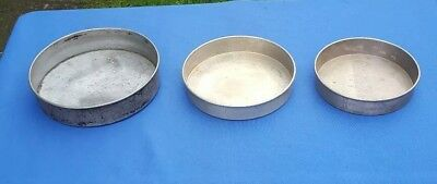 3 Tier Vintage Round Heavy Duty Unbranded Steel Baking Wedding Cake Pans 7,8,9""