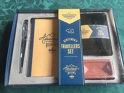 Gentleman's Hardware Travellers Set, Notebook, Pen, Face Cloth, Soap Gift Set