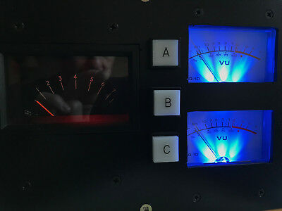 Unique Stereo Vu meters combined BBC PPM AM20/5 A+B M+S  super useful in Studio
