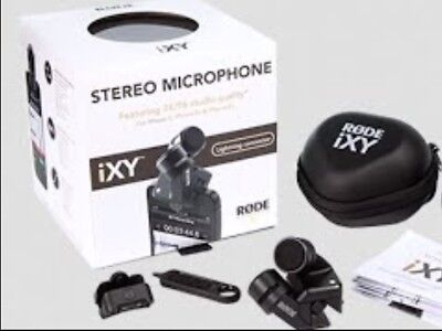 Rode iXY Stereo 24 Bit External Recording Mic for iPhone - with iClamp