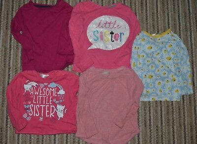 Baby Girls Long Sleeve Tops 9-12 months TU NEXT other x5 pink floral sister