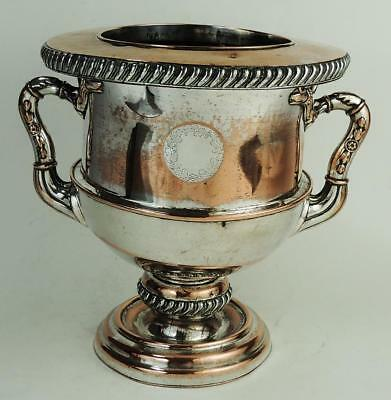 GEORGE III OLD SHEFFIELD PLATE CHAMPAGNE / WINE COOLER c1800