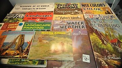 16 Book Magazine Lot of Painting & Drawing