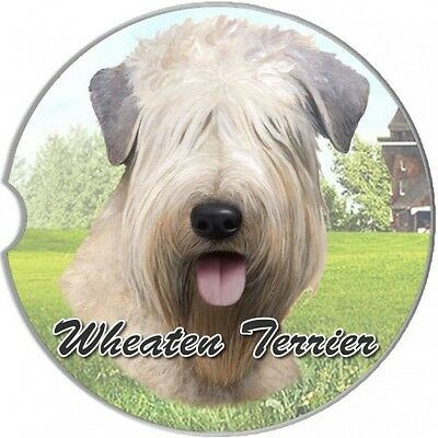 Soft Coated Wheaten Terrier Sandstone Absorbent Dog Breed Car Coaster