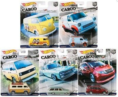 Hot Wheels 2018 Car Culture Cargo Carriers Complete Set Of 5 Nissan Vw Honda