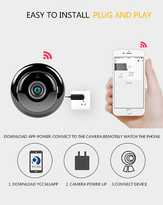 Mini Wireless WIFI IR Night Vision Smart Home Security Camera Video Monitor DVR