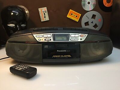 Panasonic RX-TD39 Ghettoblaster Boombox Fernbedienung Tape CD Radio