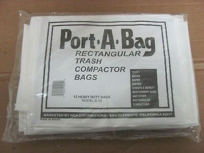 NDA Model #B-10 - Port-A-Bag - Rectangular Trash Compactor Bags (box of 12)