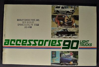 1990 Ford Truck Accessories Brochure F-150 Pickup Bronco II Econoline Van Ranger