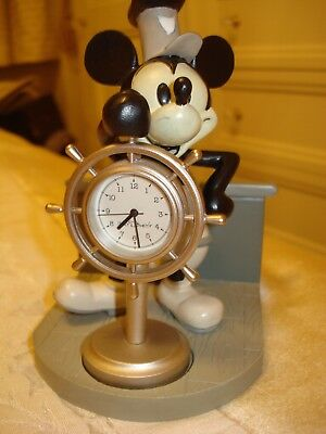 """Bnin Mickey Mouse """"steamboat Willie"""" Clock"""
