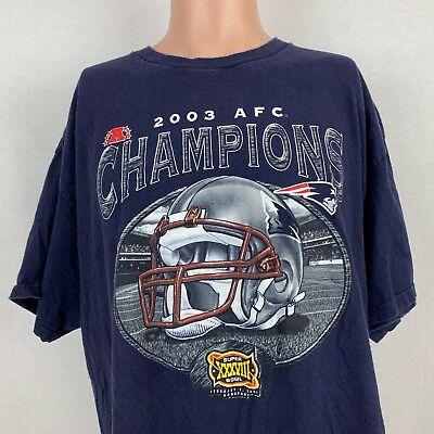 New England Patriots 2003 AFC Champion T-Shirt XL Vintage NFL Super Bowl  XXXVIII 5a7583861
