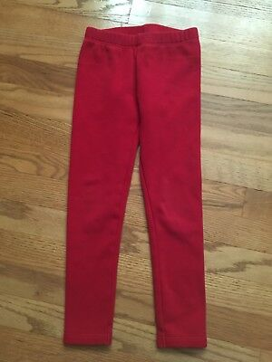 Gymboree Girls Warm And Fuzzy Red Leggings Size Small 5 - 6