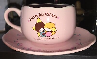 Sanrio Vintage Little Twin Stars Teacup and Saucer - Pink
