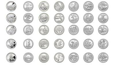 2012-2018 S America The Beautiful Quarters 35 Coins Set - Free Shipping