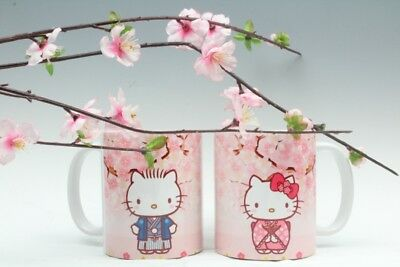 Hello Kitty & Dear Daniel sakura pair 11 oz cup mug cute US Seller