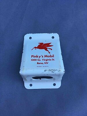 Old Pinky's Mobil Gas Service Station Advertising Bottle Opener Reno Nevada
