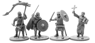 V&V miniatures The Anglo-Saxons 2 resin 28mm new