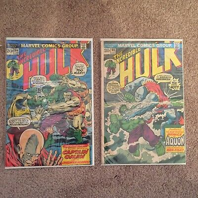 💥incredible Hulk 164 And 165 Vintage Comic Books Fast Shipping 💥