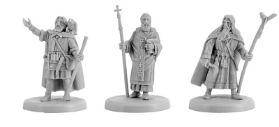 V&V miniatures Priests resin 28mm new