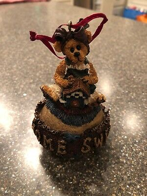 Boyds Bears Bearstone Ornament ~PE MOMMA MCBEAR..HOME SWEET HOME~  QVC EXCLUSIVE