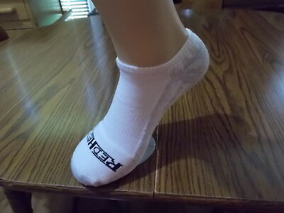 Mens Red Head No Show Socks Sz Large Cushion Bottom 12 Pair Made In Usa