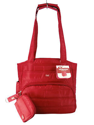 Lug WINDJAMMER Everyday Tote Bag Purse Travel Organizer & Pouch L Red $84 NWT