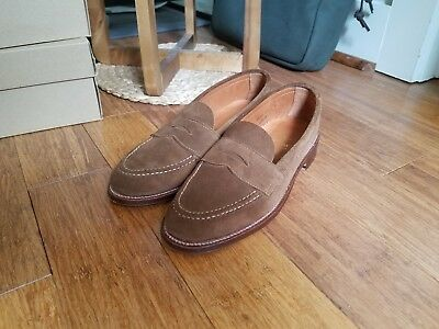 8b27a060690 Alden Unlined Leisure Handsewn (LHS) Penny Loafer in Snuff Suede Size 7.5D