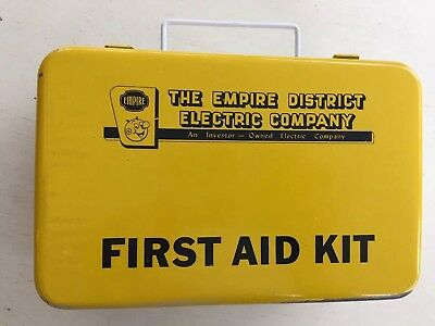Vintage Empire District Electrical Company Metal First Aid Kit Box Only