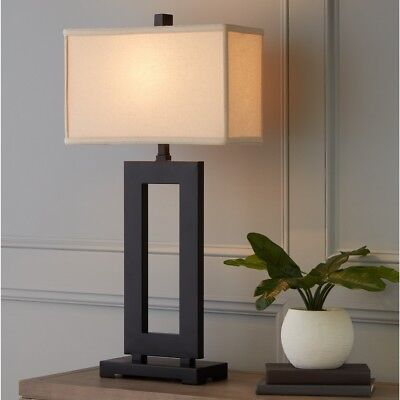 """Modern Table Lamp Rustic Tall Farmhouse Living Room Asian Bed Side End Light 32"""""""